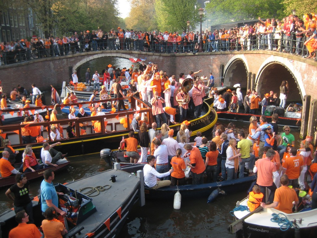Queens Day or Kings Day Orange in Amsterdam