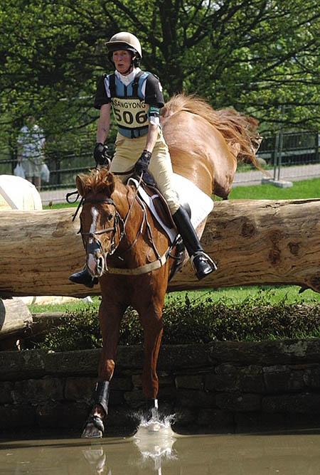 My sister, Christine Hardinge on Crown Derby
