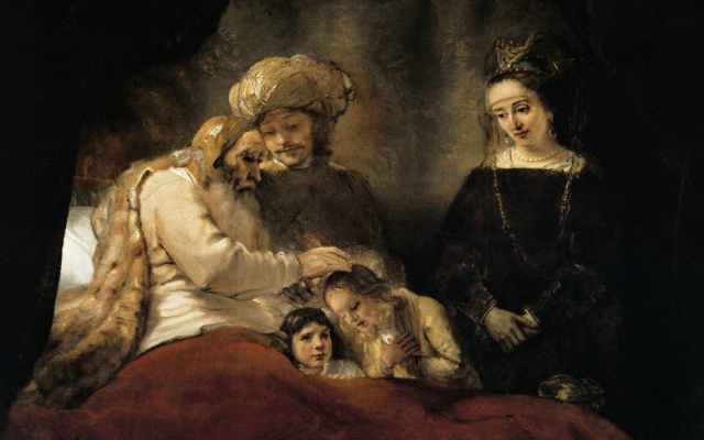 20131111-Rembrandt_-_Jacob_Blessing_the_Children_of_Joseph_-_WGA19117