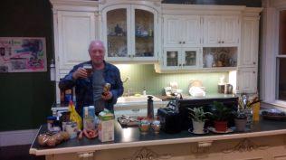 Himself, cooking