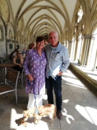 Salisbury Cathedral with Phoebe