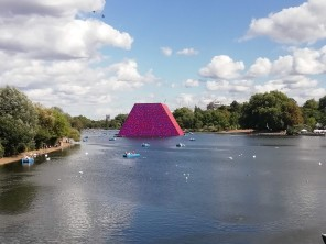 Christo sculpture Serpentine Lake