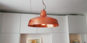 Copper lamp by Made 15 euros.